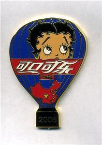 balloon betty boop 2008 coca cola china blue pin