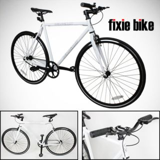 Fixed Gear Bike Single Speed Riser Bar Fixie Road Bike Track Bicycle