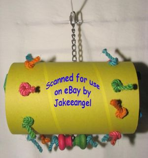 Large Foraging Tube Parrot Toy Bird Macaws Cockatoo