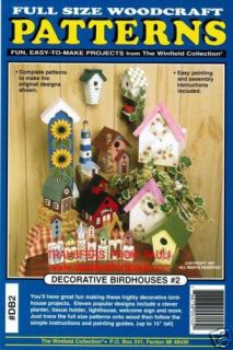 Decorative Birdhouses 2 Woodworking Pattern