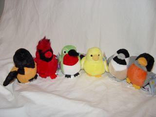 WEBKINZ Lil Kinz 6 Birds Canary Hummingbird Robin Oriole Cardinal NEW