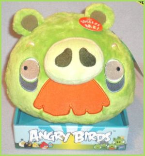 Angry Birds 8 Plush Grandpa Green Pig with Sound New