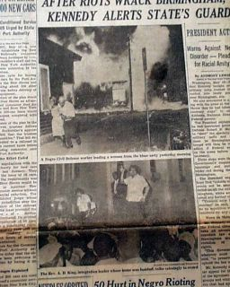 Birmingham Alabama Campaign Race Riots Disaster Negroes Photos 1963