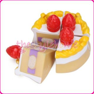 Colorful Birthday Party Cake Kids Pretend Play Food Set