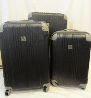 beverly hills country club malibu 3 piece hardside spinner set luggage