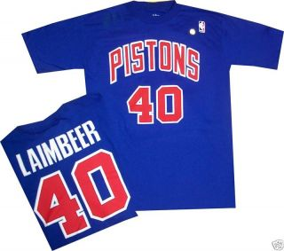 Bill Laimbeer Detroit Pistons Shirt Jersey Medium 1988