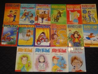 Lot of 20 Beverly Cleary, Judy Blume, and Encyclopedia Brown + Vintage Books Y55