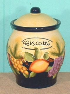 Home Decor Canister Biscotti Kitchen Food Storage Nonni