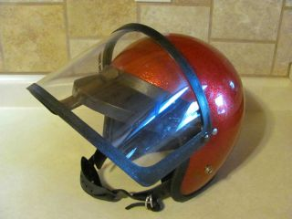 Vintage Snowmobile Helmet Metal Flake Motorcycle Large Sno Rider