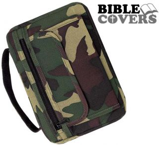 Camouflage Holy Bible Cover Camo Army Green Book Case Tote Bag