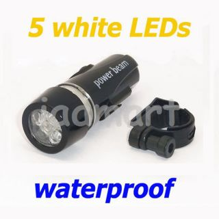 Cycling Bicycle Bike Front Flashlight 5 LEDs Head Light Waterproof