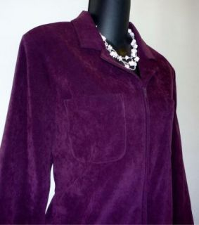 Bice Sag Harbor Womens Cranberry Zip Front Blazer Suit Jacket Size 8