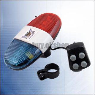 Bicycle Turn Signal Brake 6 LED Light 4 Sounds Horn