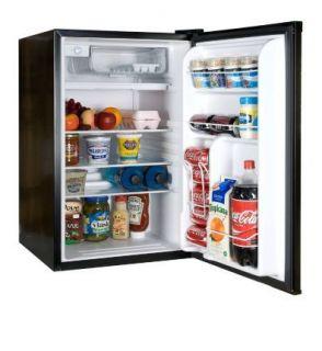 NEW HAIER 4.5 cu. ft Black Compact Mini Refrigerator & Freezer Fridge