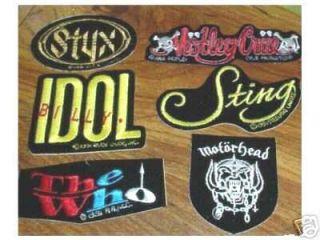 Billy Idol Patch Sticker CD 91 Punk RARE Die Cut