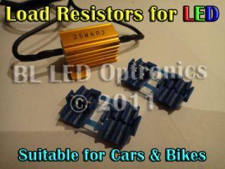 25W 6 Ohms 12V Load Resistor Kit Car Bike Turn Signal