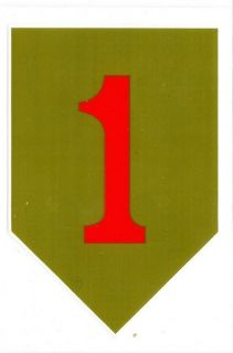 Army Big Red One 1st Infantry Division Decal