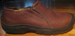 Keen Bidwell Mens Brown PEBBLED Leather Slip on Loafers Shoes Sz 11