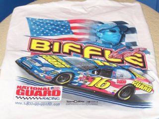 Greg Biffle National Guard NASCAR Racing Shirt Med New