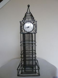 Iron Big Ben Table Desk Clock Stands 2 Tall Quartz Clock