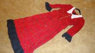 1900s Victorian TITANIC Edwardian prairie EMMA regency red dress