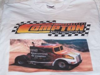 Sid Compton Motor Sports Semi Truck Big Rig T Shirt New