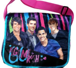 Big Time Rush Nickelodeon Stripes Back to School Messenger Bag