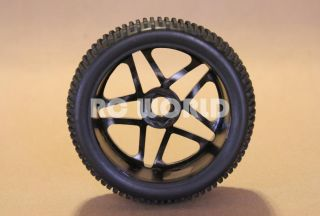 Car Buggy Truck Tires Wheels Rims Package Black 5 Star Nipple