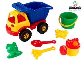 New 7 Piece Big Dump Truck Sand Toys Set Bucket Shovel