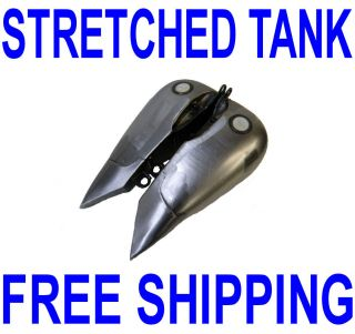 FLAT SIDE STRETCHED 5 GALLON FAT BOB GAS FUEL TANK HARLEY SOFTAIL