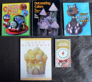 Cake Decorating Books Kids Birthday Childrens Party Character Icing
