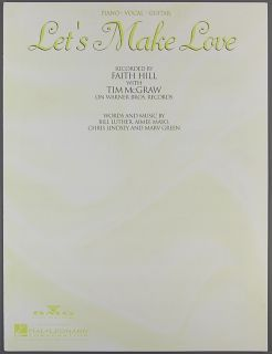 Lets Make Love Sheet Music Faith Hill Tim McGraw 1999
