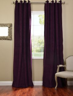 Eggplant Grommet Velvet Blackout Curtains Drapes