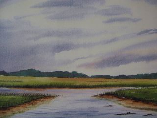 Coastal Marsh Print Signed and Numbered by The Artist Pawleys Island