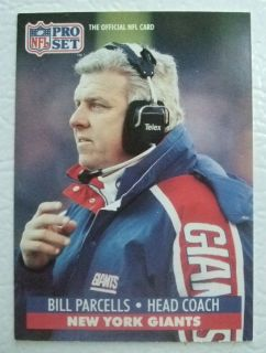 New York Giants 1991 Pro Set 72 Bill Parcells NFL Card Head Coach