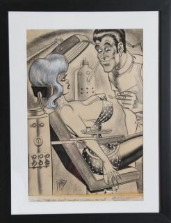 Bill Ward Oh Doctor Sexy Cartoon Illustration Drawing
