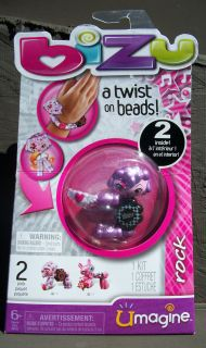 NIP  bizu  Beading Kit/A Twist On Beads/Makes Bracelets + Bead Pets