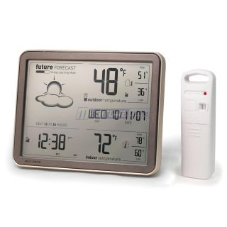 Acurite 8 Digital Weather Station w Forecast Temperature Atomic Clock