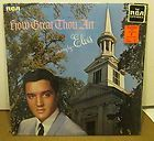 How Great Thou Art LSP 3758 Elvis Presley Spiritual re Issue LP Record