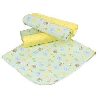 New Unisex Gerber 5 Pack Flannel Blankets