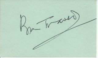 Bill Travers Born Free Animal Rights Actor Signed Autograph Index Card