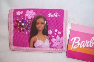 African American Black Barbie Flowers Wallet Purse