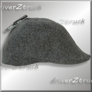 Charcoal Heather Gray Ivy Cap Duck Bill L XL Vintage Style Hat