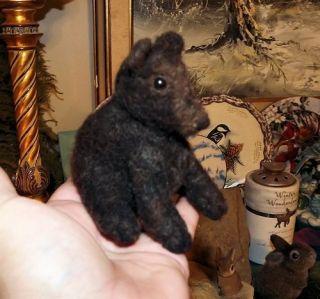 OOAK Artist Needle Felted Sculpted Miniature Black Bear Cub