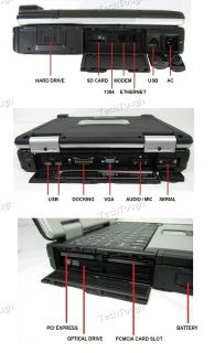 GPS * 640GB * TOUCHSCREEN * WWAN * BLACK COBRA Panasonic TOUGHBOOK CF