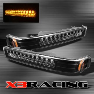 BLACK 98 05 CHEVY S10 BLAZER FULL LED BUMPER PARKING TURN SIGNAL