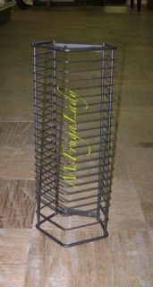 black wire cd wall racks unit holds 24 cd jewel cases material wire