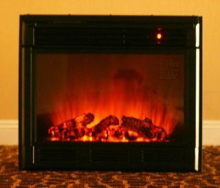 New Black Electric Firebox Fireplace Insert Room Heater GTC 7R58 23