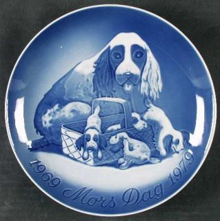 manufacturer bing grondahl pattern mothers day plate piece dog pups