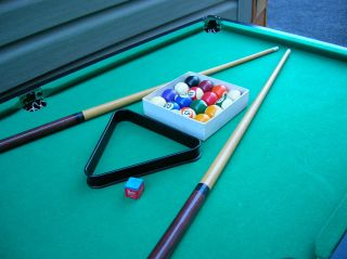 Portable Pool Billiard Table with Complete Accessories